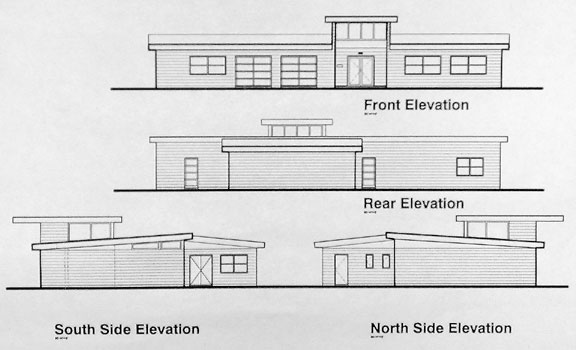 Front Elevation Flat Roof Houses : The library house project october